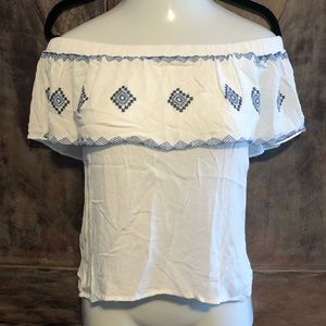 White off shoulder shirt